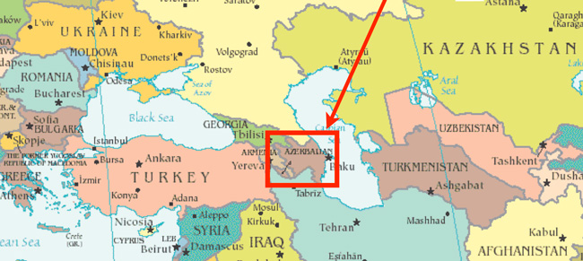 From The Field The International Student Market In Azerbaijan - Azerbaijan maps with countries